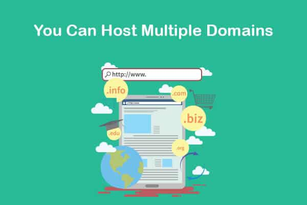 you can host multiple domains