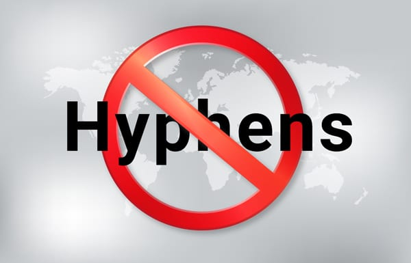 do not use hyphens
