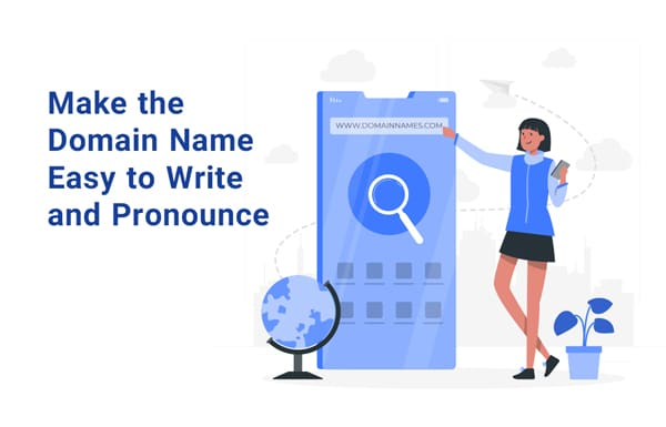 easy to write and pronounce domain name