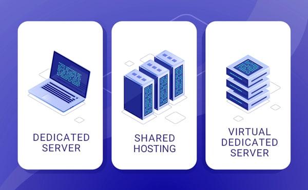 dedicated server vs shared hosting vs vps