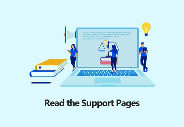 Read the Support Pages