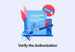Verify the Authorization