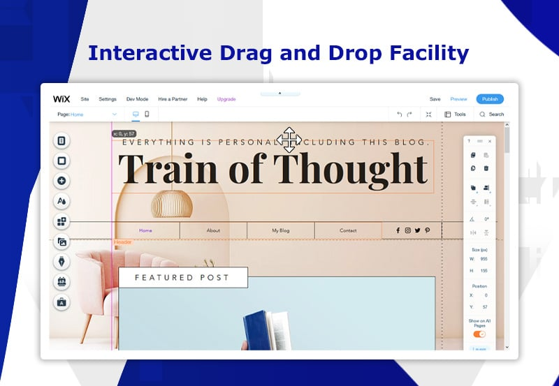 Interactive Drag and Drop Facility