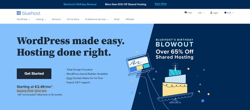 bluehost site